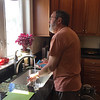 Dennis the 2nd Chef preparing for dinner as well