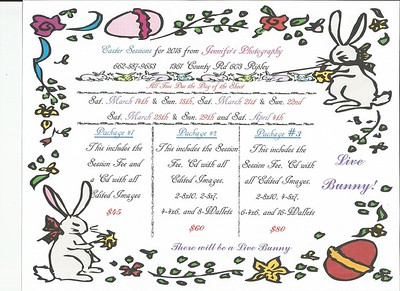 Easter Specials 2015