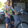 Blake got this mountain bike free. He won the raffel at the City of Tracy, Easter egg hunt. How cool is that.