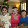 The Tran family. Amanda, Tiffiny and Brandon.