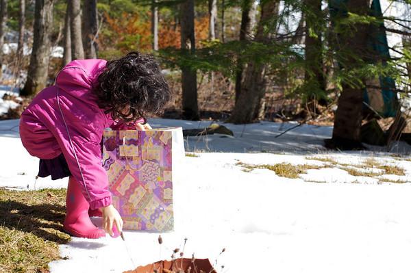Emassing her treasure