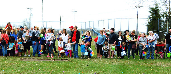 Diane Raver | The Herald-Tribune<br /> A large crowd attended the Easter egg hunt at the Batesville High School football field. It was presented by Batesville Christian Church and many church members volunteered to help at the event.