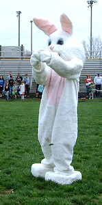 Diane Raver   The Herald-Tribune The Easter Bunny played Charades before the final hunt of the afternoon.