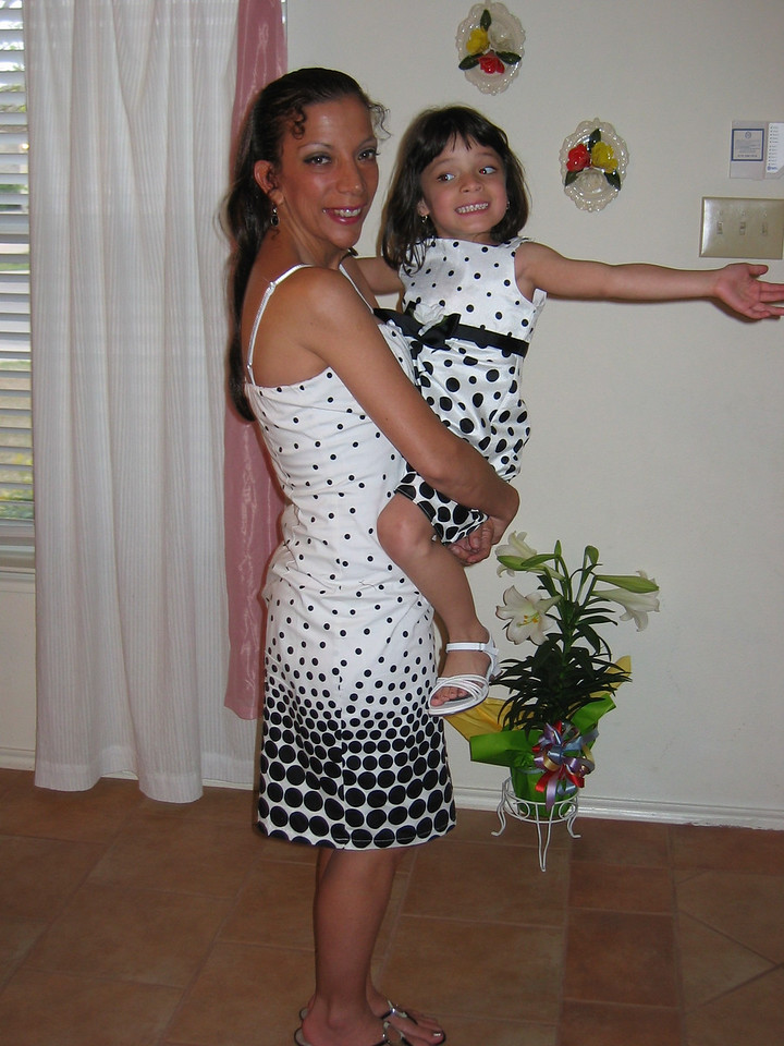 Becky and Lexy in matching dresses :)