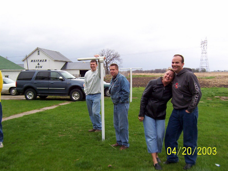 TJ, Todd, Mary and Phil watching the hunt  ( 2003 )