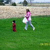 Wyatt and Nicole hunting for Easter eggs  ( 2003 )