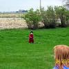 Wyatt and Elainee hunting for eggs  ( 2003 )