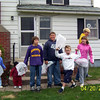 Elainee, Wyatt, Alex, Travis Bisenius, Bryce, Nicole and Cory getting ready for the hunt  ( 2003 )