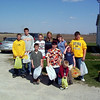 Cory, Alex, Taylor, Travis Wolf, Holly, Bryce, Nicole, Elainee, Wyatt and Travis Bisenius getting ready to hunt for eggs  ( 2004 )