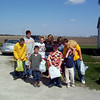 Alex, Cory, Taylor, Travis Wolf, Hollie, Bryce, Nicole, Elainee and Travis Bisenius getting ready to hunt for eggs  ( 2004 )