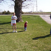 Taylor, Wyatt and Daryl on the easter egg hunt  ( 2004 )