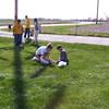 Wyatt, Travis Bisenius, Alex, Nicole, Taylor and Travis Wolf hunting for eggs  ( 2004 )
