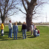 Travis Bisenius, TJ, Mary, Hollie, Nicole, Cory, Bryce, Daryl and Wyatt hunting for easter eggs  ( 2004 )