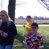 Angie, Alex and Bryce hunting for easter eggs  ( 2004 )