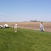 Bryce, Travis Wolf, Taylor and Cory hunting for eggs  ( 2004 )