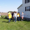 Nicole, Alex, Travis Wolf, Hollie, Cory, Taylor and Travis Bisenius hunting for eggs  ( 2004 )