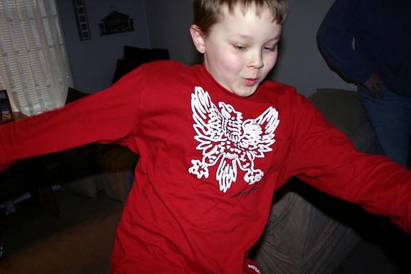 Bryce doing a karate kick  ( 2005 )