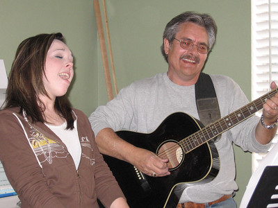 Kasey and Jeff singing