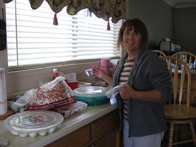 Mom preparing for easter
