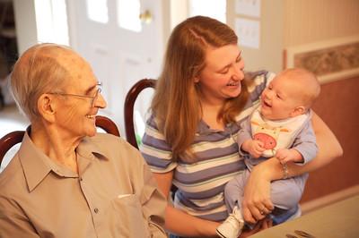 Great Grandpa, Mom and Robert