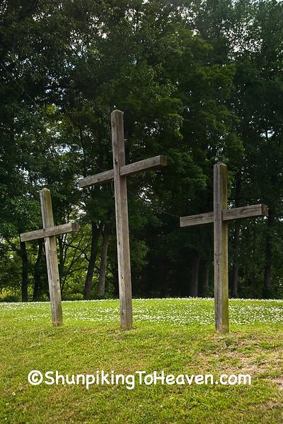 Three Crosses at Hillside Free Will Baptist Church, Pitt County, North Carolina