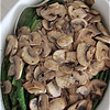 Asparagus and haricot vert with mushrooms.