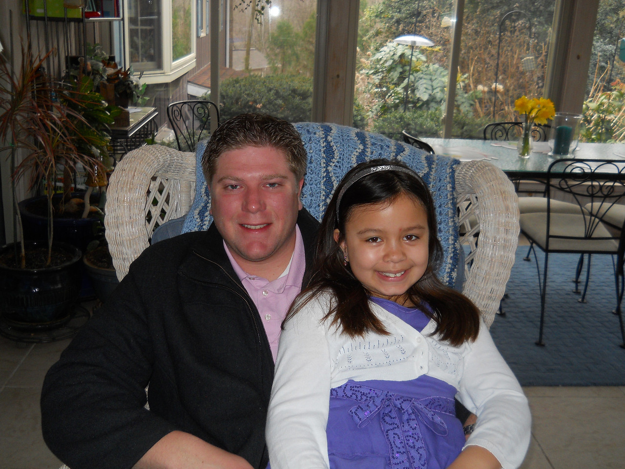 Easter Sunday morning - Kaidyn and her Dad