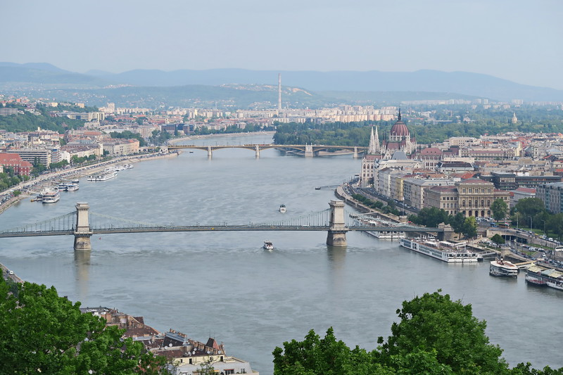 Hungary - Budapest - Views of Danube from Citadel 06