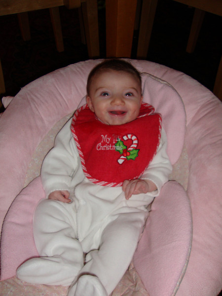 A very happy girl on her first Christmas!!