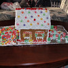The gingerbread house the Emerys made with Scout.  The little one is the outhouse