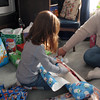 Scout opening her gifts