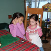 Tyra and Scout listening to Tyra's new IPOD.