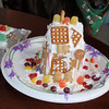 Scout's gingerbread outhouse.
