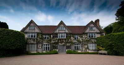"""Ticehurst,  """"The Manor""""  The de Passele family built a moated in 1262 and held the estate until 1453, when it was sold to the forebears of Anne Boleyn. It is possible that Anne, second wife of Henry VIII, stayed here during her childhood. I 1543 the estate was sold to Sir Thomas May, who built the Tudor house you see today. The fine Georgian façade was added in 1720. The house is a family home and is not open to the public."""