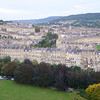First view of Bath as we rise fast - Royal York Crescent