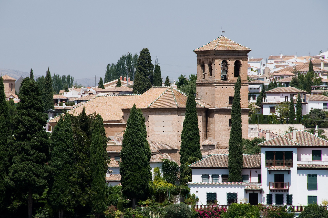 View of the albeicin from the alhambra