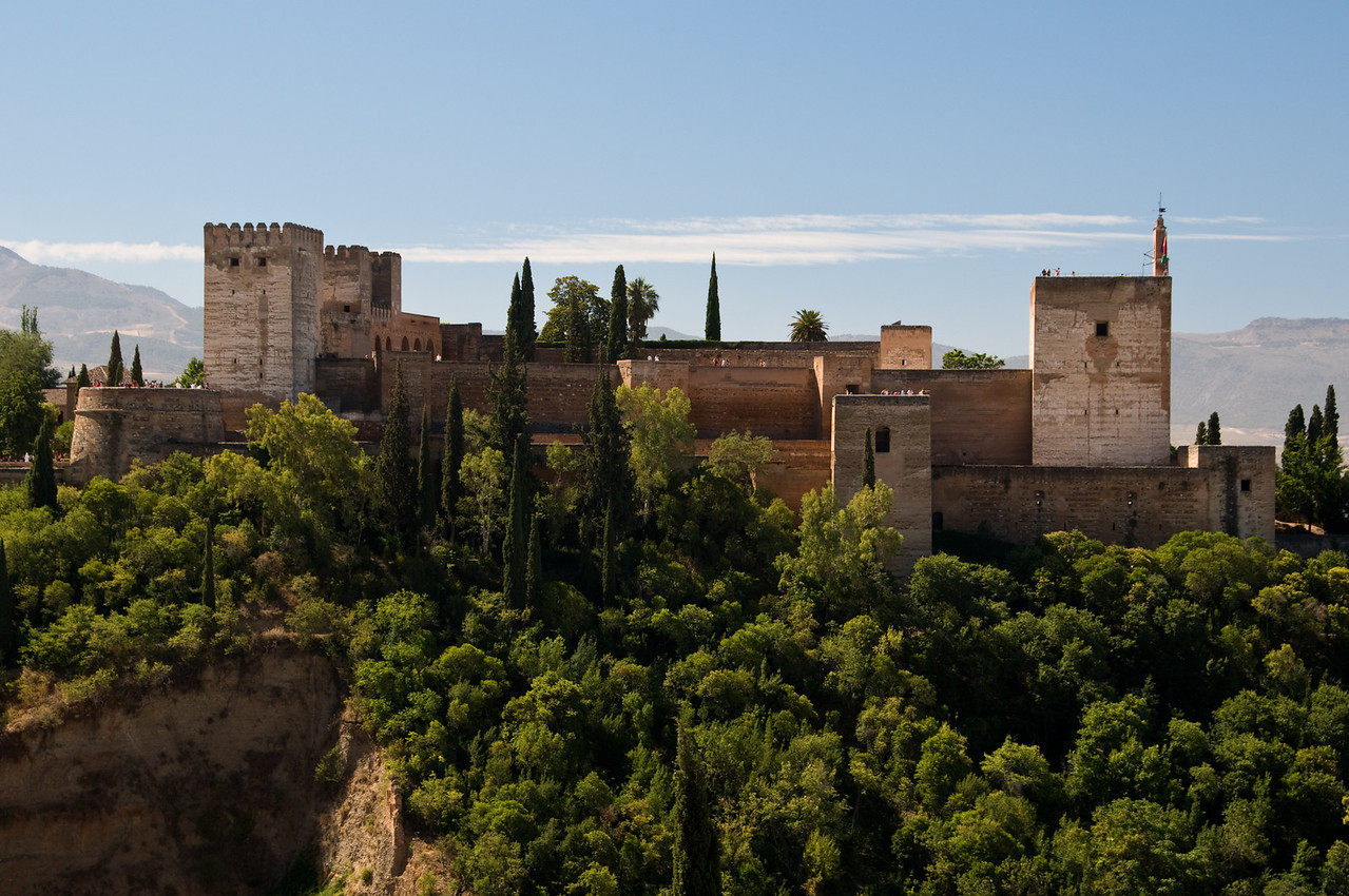 View of the alhambra from the albeicin