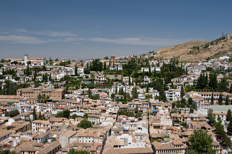 Sacromonte viewed from the gardens of generalife