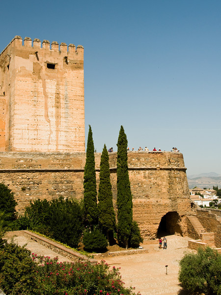 Alhambra, the fortress. This is the oldes part of the construction