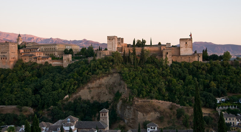 dusk on the alhambra