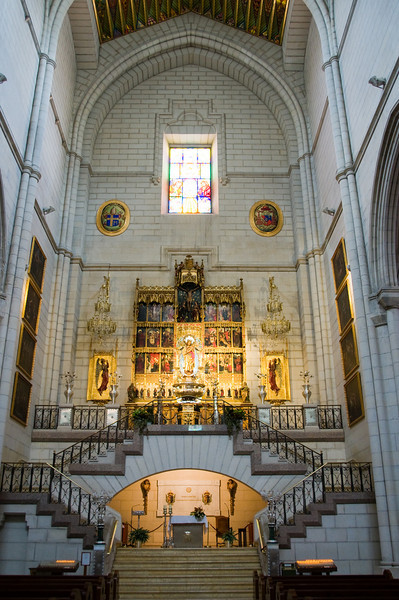 Inside the Almudena cathedral (near the royal palace), Madrid, Spain