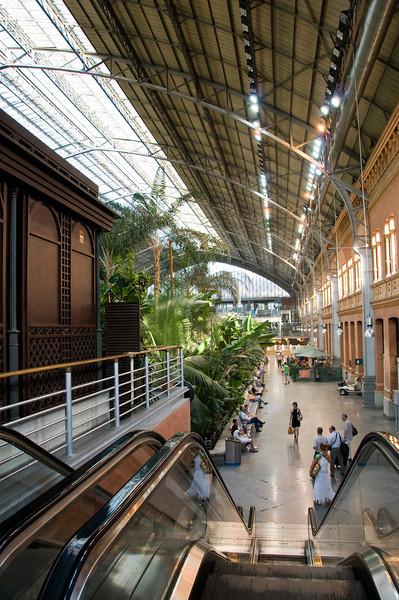 Atocha station, madrid Spain