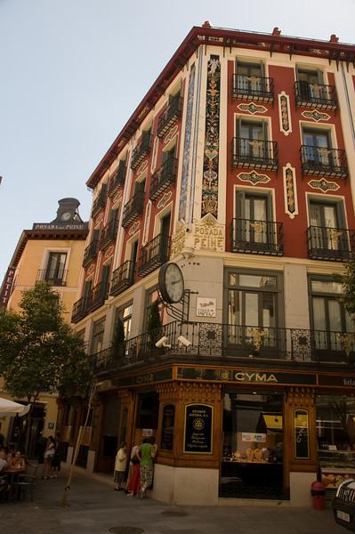 "Street of Madrid, near the ""plaza mayor"", Madrid Spain"