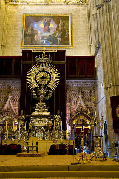 INside the cathedral of Sevilla, Spain.