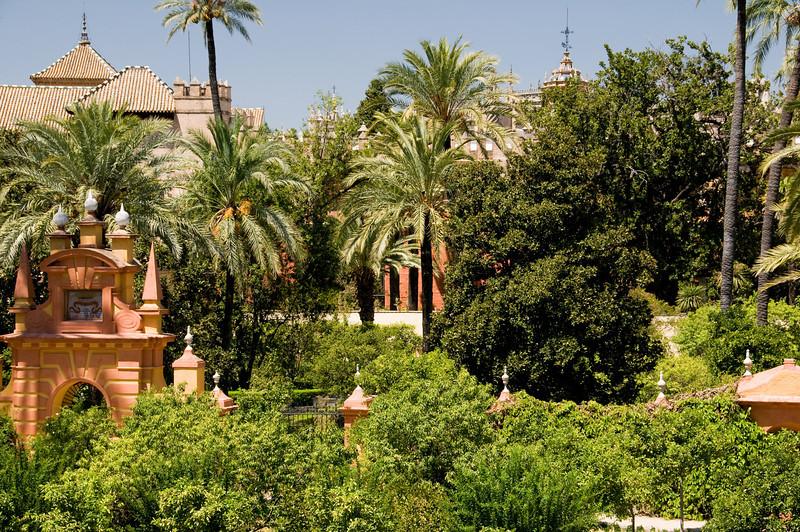 Garden of the alcazar, Sevilla, Spain.