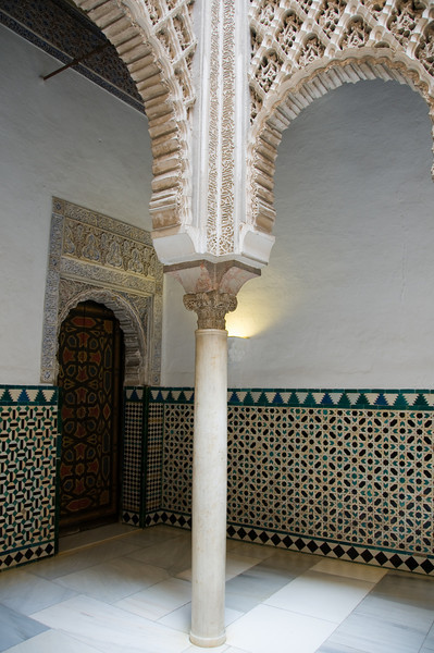 Inside the alacazar, Sevilla, Spain.
