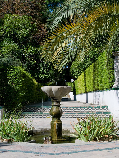 Garden of the alcazar, Sevilla, Spain.
