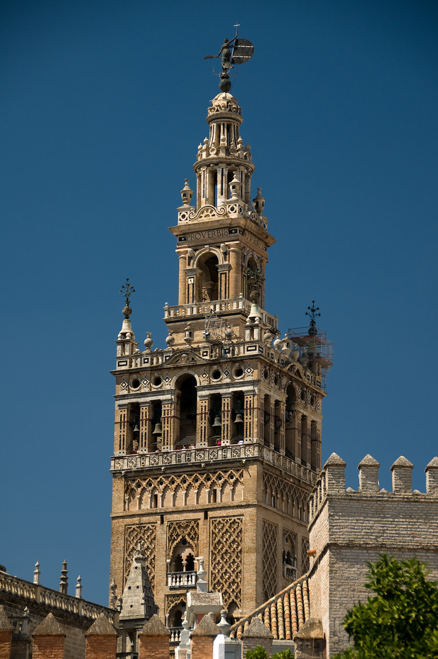 tower of the cathedral of sevilla, Spain