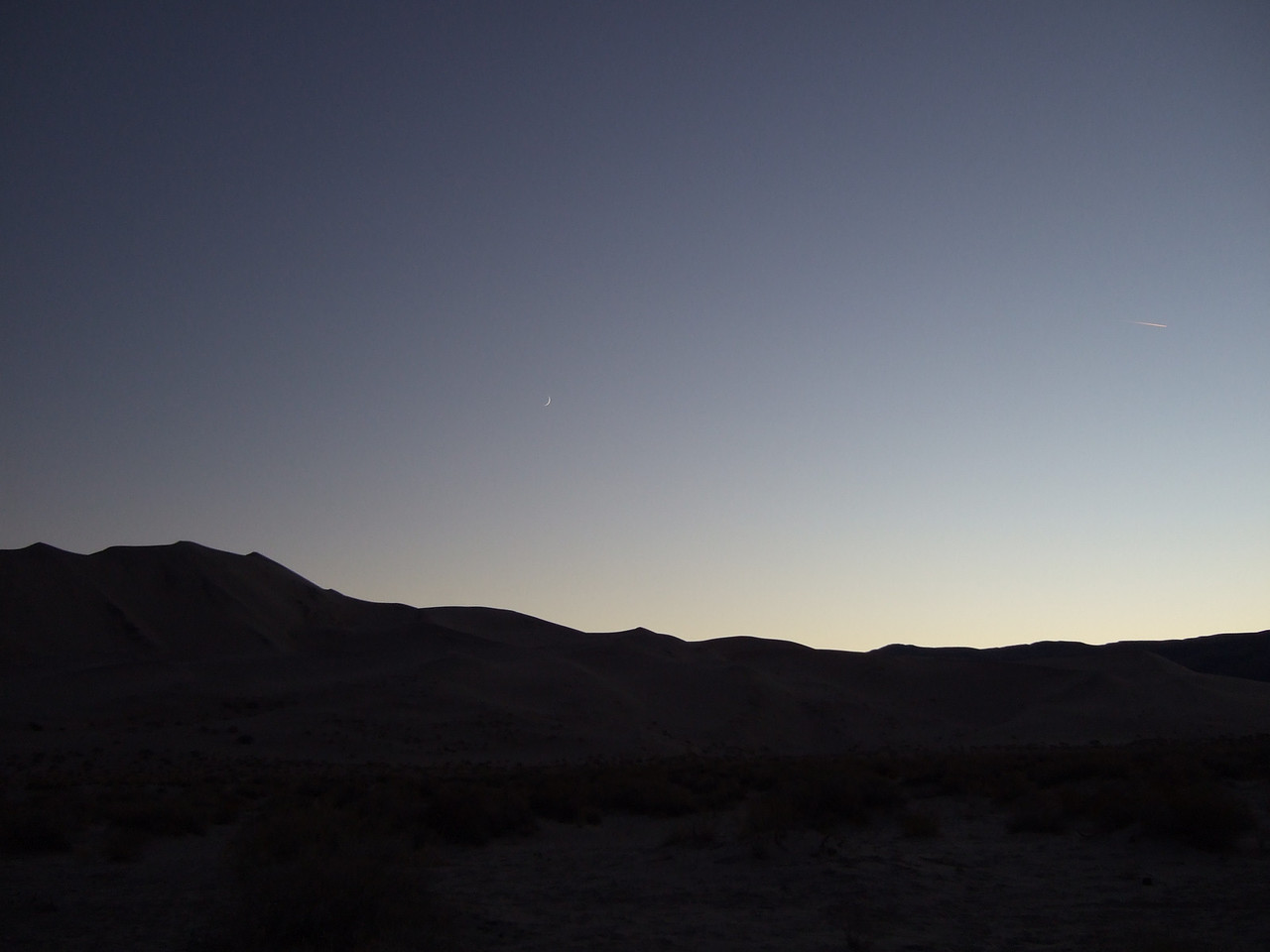 The sun set at 4:10 PM PST over the Inyo Mountains.
