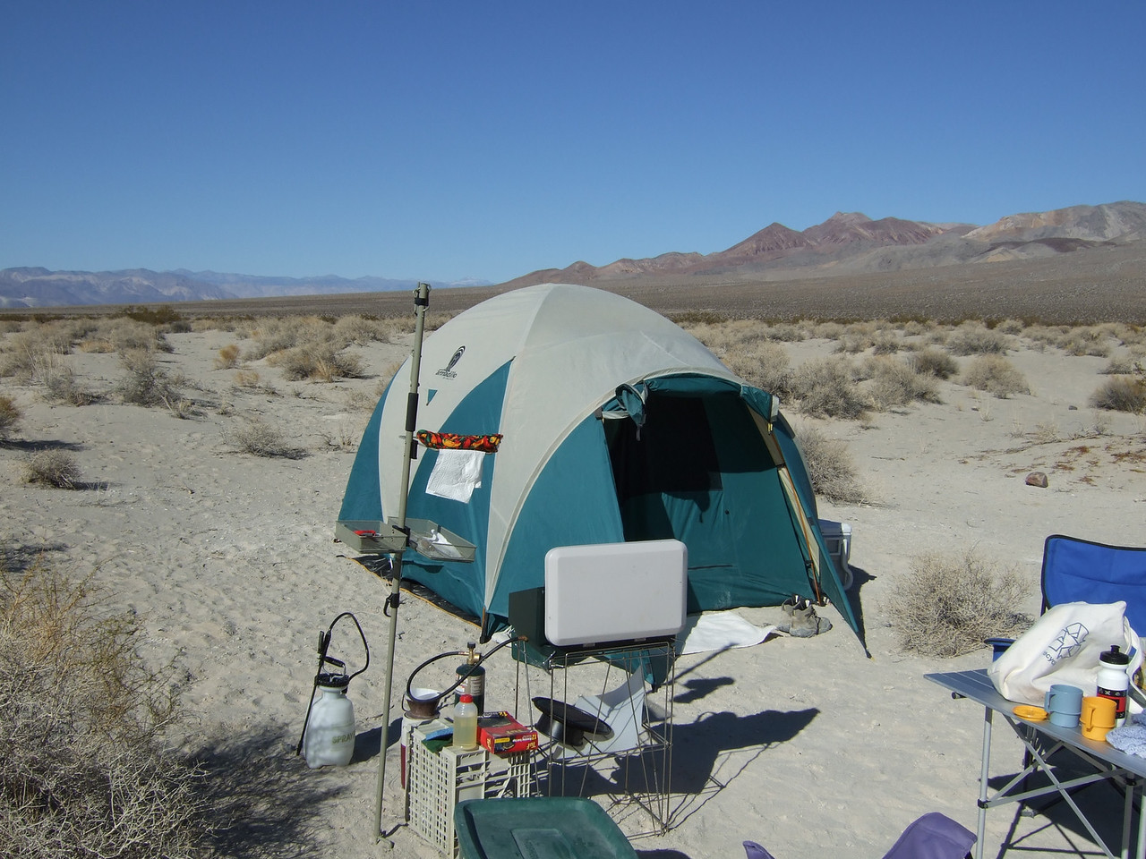 Our tent and dining area.